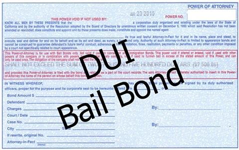 DUI Bail Bond